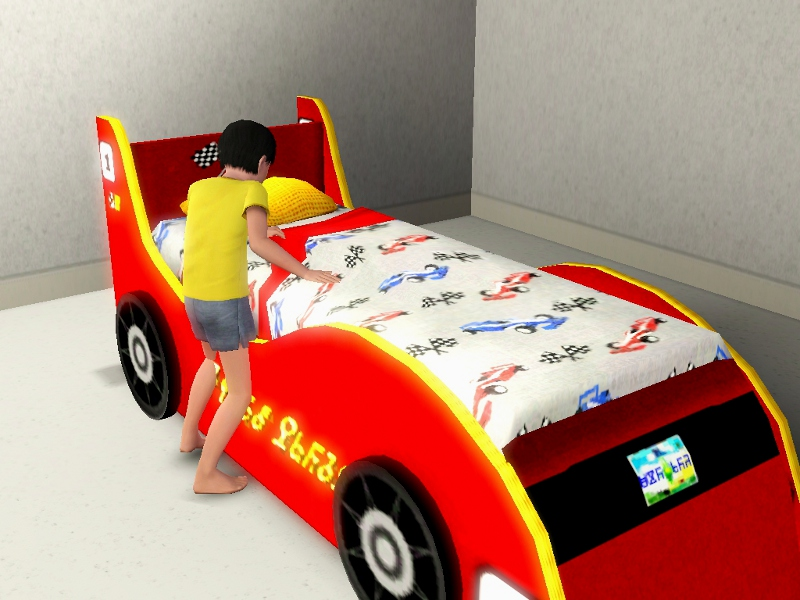 race car bed for kidsteens by lhawk07