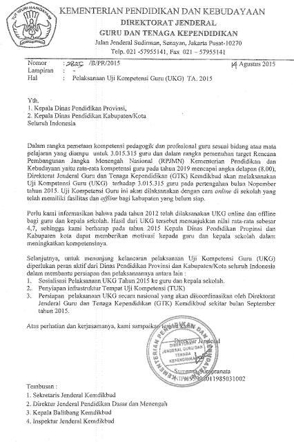 UKG dilaksanakan November 2015