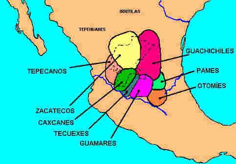 distribucion pueblos chichimecas