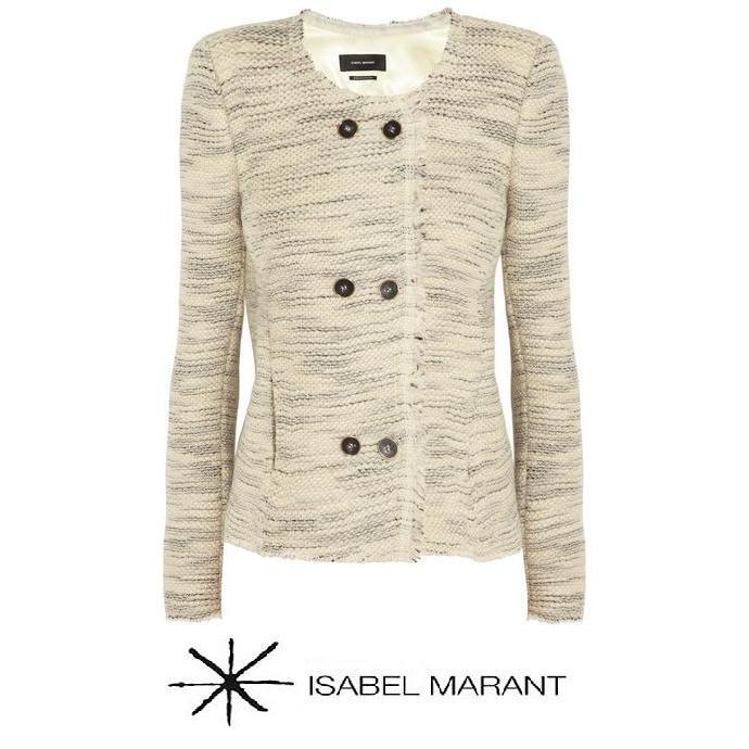 Princess Marie - Isabel Marant Beige Laure Woven Woolblend Jacket