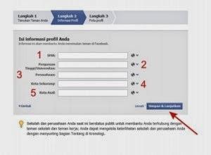 Langkah Kedua Cara Membuat Facebook Informasi Profil