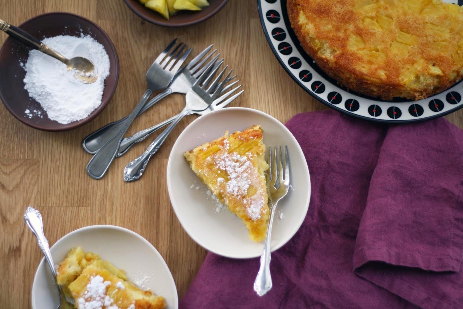 Azorean Almond Polenta Pineapple Cake | Sevengrams