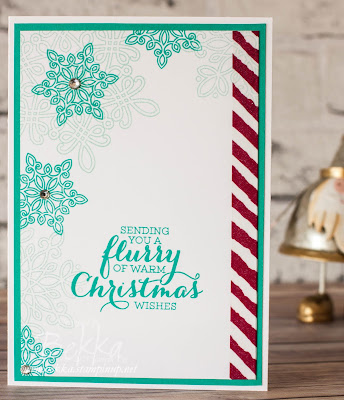 Fast and Fabulous Flurry of Falling Snowflakes Christmas Card  - get the details here