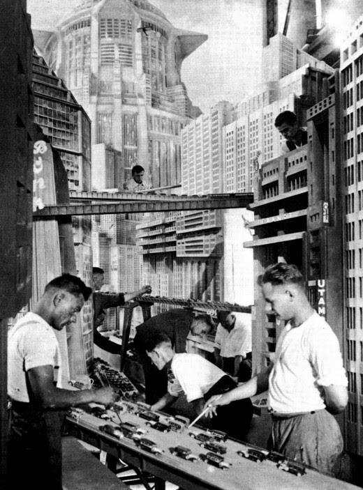 Construcció dels decorats-maqueta de la pel·lícula
