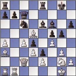 Partida de ajedrez Bordell vs. Polugaievsky 1956, posición después de 23.Cg2