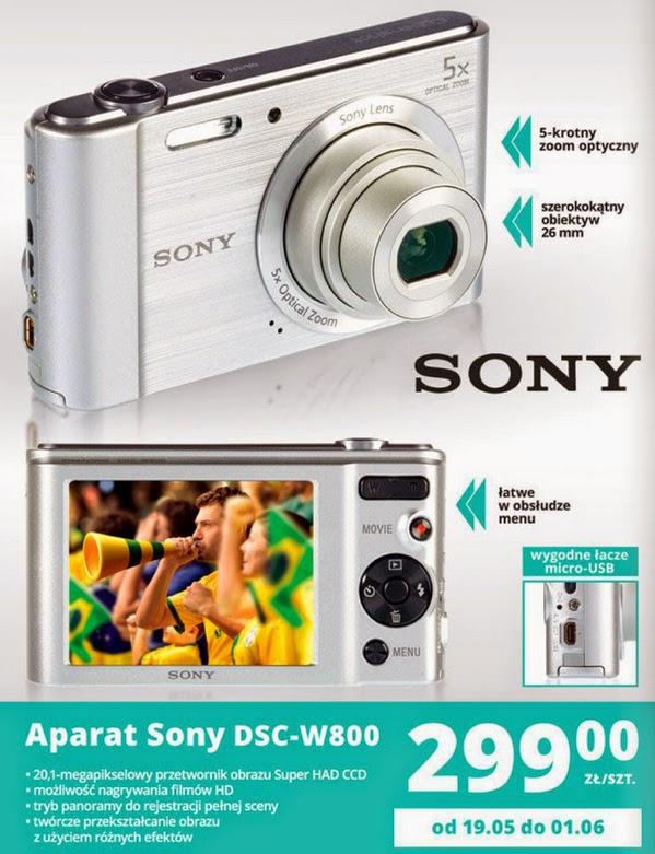 Aparat Sony DSC-W800 z Biedronki ulotka