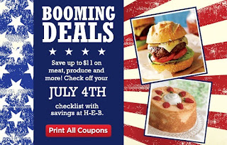 HEB 4th of July sales