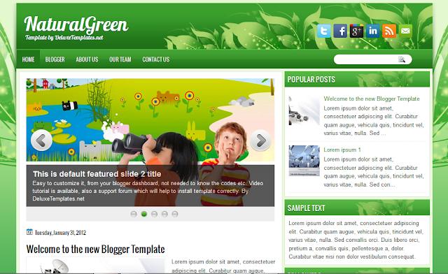 Nature Magazine Blogger Template