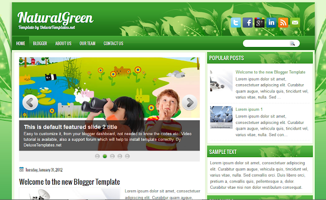 Nature Blogger Template | Blogger Templates Gallery