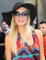 Paris Hilton with Fun Shades Sunglasses