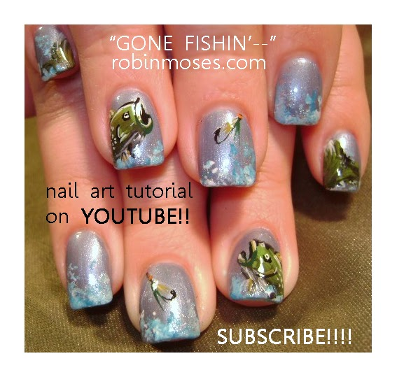 "Robin Moses Nail Art February 2015: Robin Moses Nail Art: ""fish Nails"" ""short Butterfly Nails"