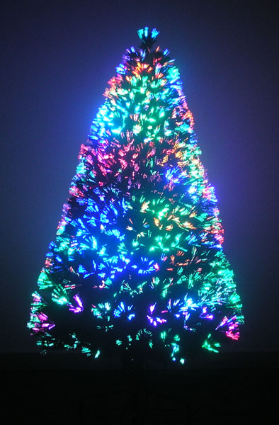 Small Fiberoptic Christmas Tree