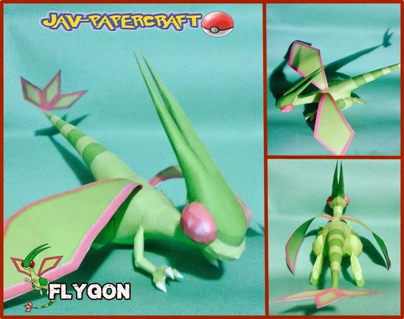 Flygon Paper Model