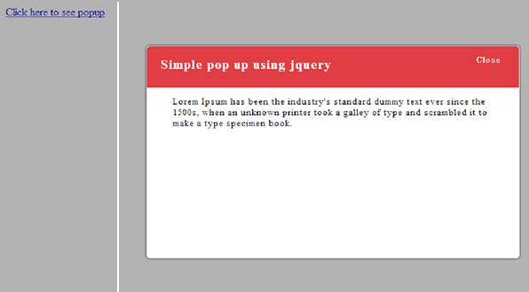 Sharepoint new how to create a simple popup window using for Window jquery