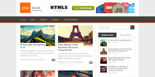 Download Gratis Playbook wordpress Theme , SEO Friendly , News , Magazine