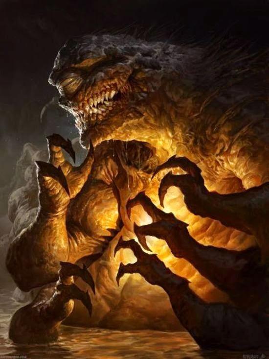 Dave Rapoza deviantart ilustrações fantasia sombria monstros demônios games