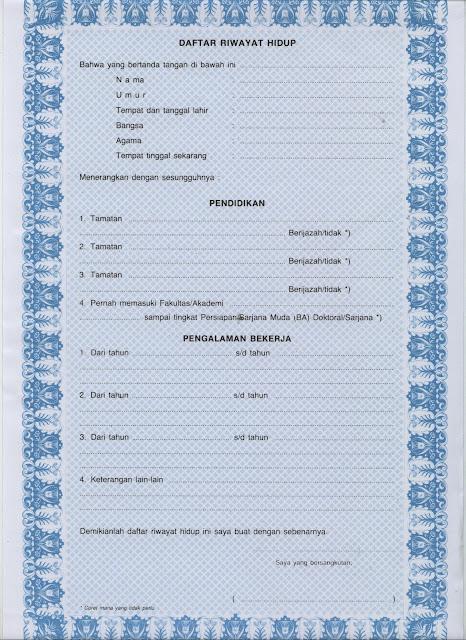 Daftar Riwayat Hidup Terbaru 2013