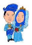 karikatur perkahwinan saya!