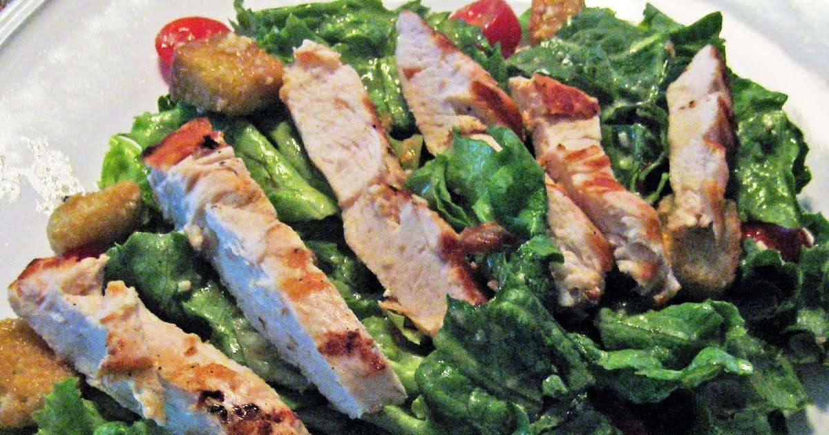 how to make grilled chicken caesar salad