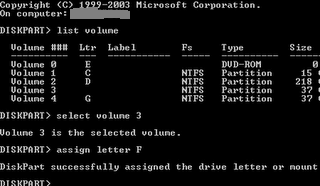how to change hard drives in command prompt