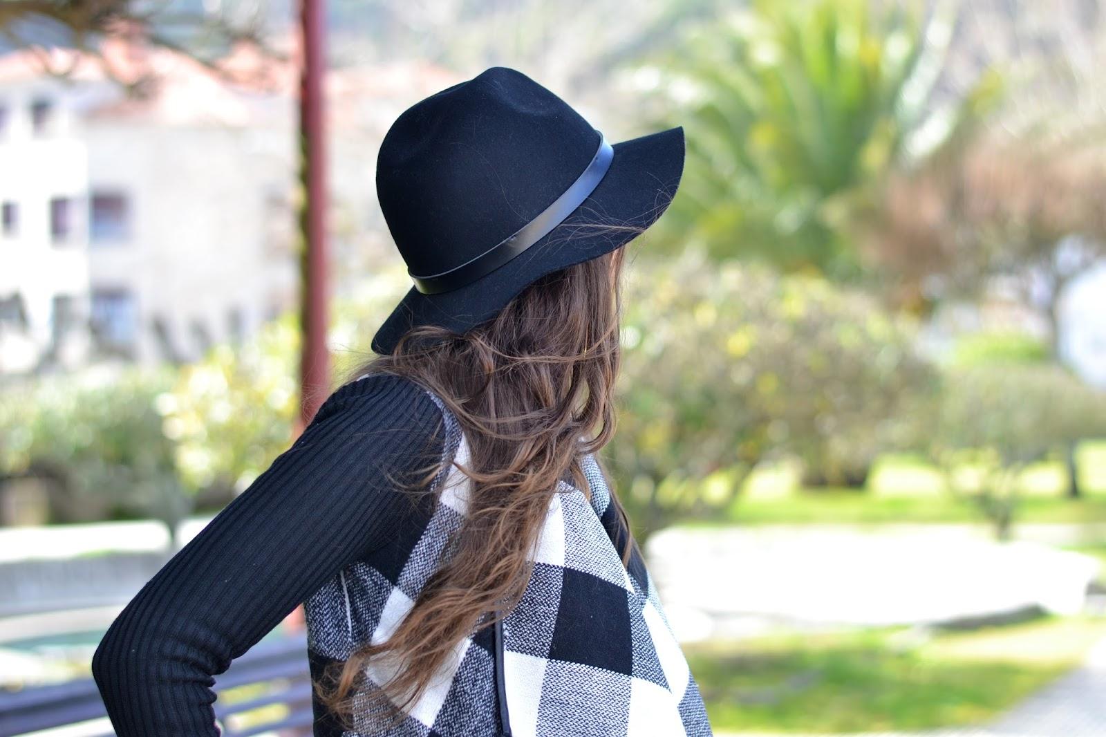 outfits sombrero negro