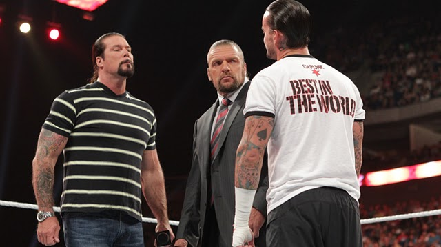 Kevin Nash, CM Punk and Triple H