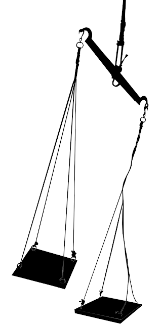 silhouette of balance weighing scales