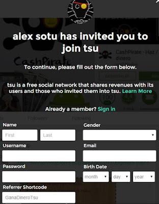 Tsu como registrate