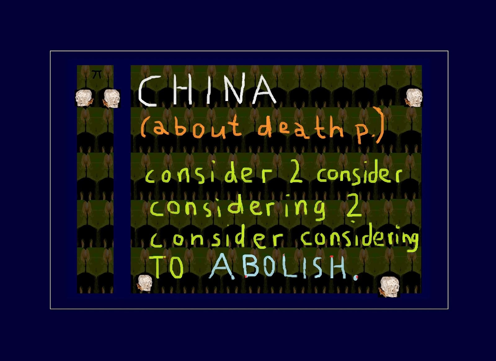 CHINA abolishment of death penalty USA barack obama hillary clintON todesstrafe VEREINIGTE STAATEN