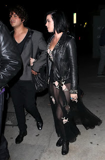 Katy Perry was spotted leaving a birthday party held at Shore Bar in Santa Monica