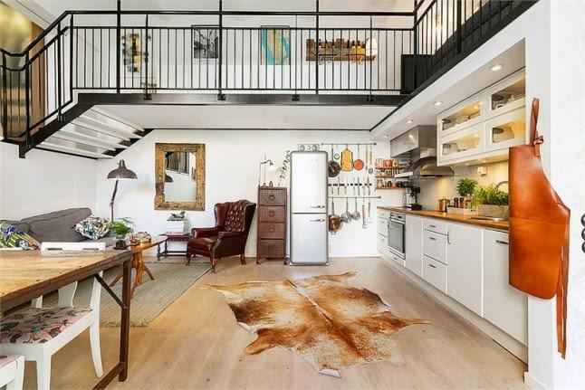 Deco loft a dos alturas de estilo r stico vintage for Loft rustico