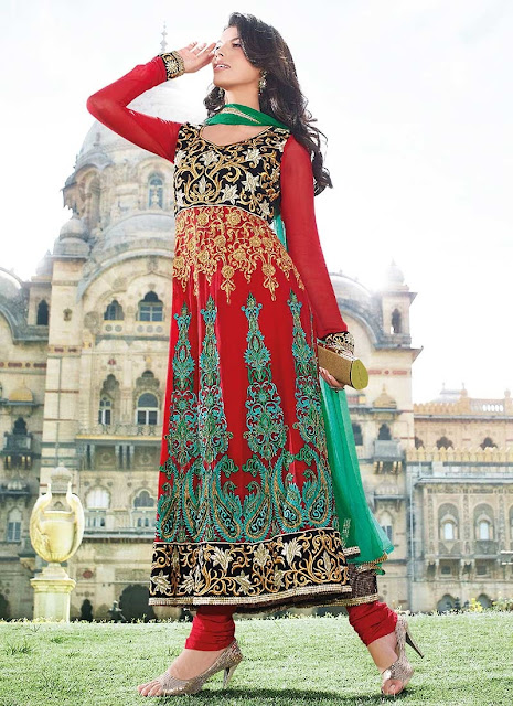 Latest Designers Wedding Indian Anarkali 2013 For Women