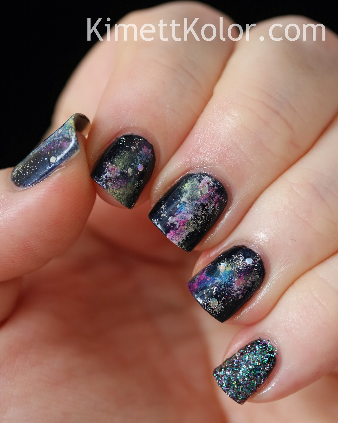 Holographic Stars in Colorful Nebula | Kimett Kolor