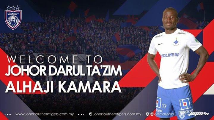 Pemain Baru Johor Darul Takzim JDT Alhaji Kamara