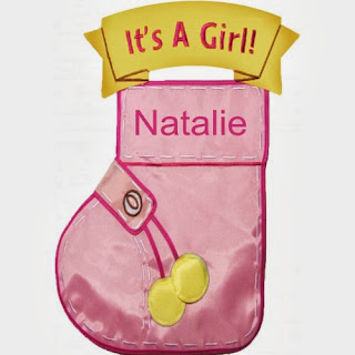 Personalized Baby Girl Flag