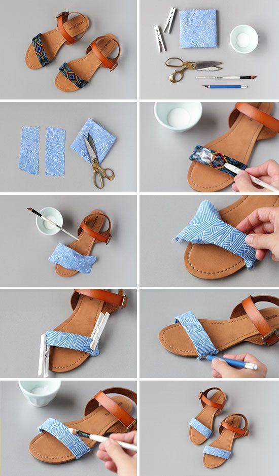 renovar sandalias viejas