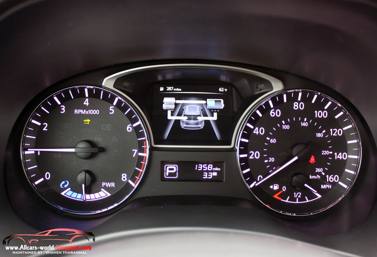 Automotive news 2014 nissan pathfinder hybrid thoughtful technology is also found throughout the pathfinder hybrid interior starting with the instrument panel which includes the advanced drive assist vanachro Image collections