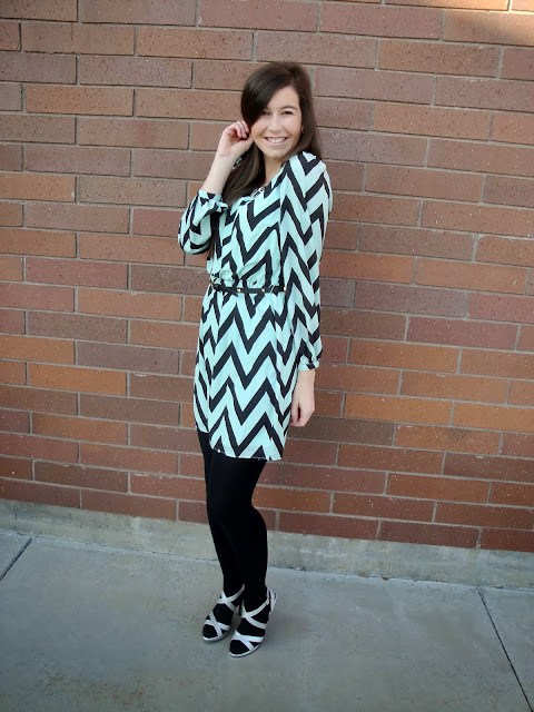 chevron, mint chevron, jcpenney, jcpenneys, jcpenneys dress, chevron dress, mint chevron dress, heels
