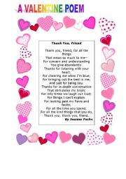 valentines poems for friends