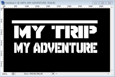 Cara Membuat Tulisan MY TRIP MY ADVENTURE