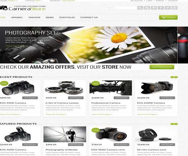 WordPress eCommerce Themes Reviews -Camy PSD Format eCommerce Theme ...