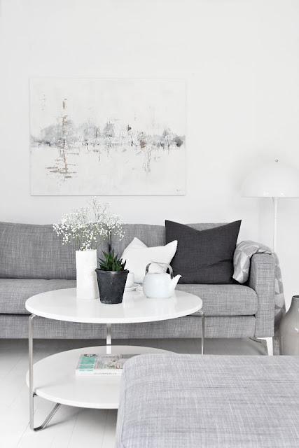 foto salón nórdico en tonos grises