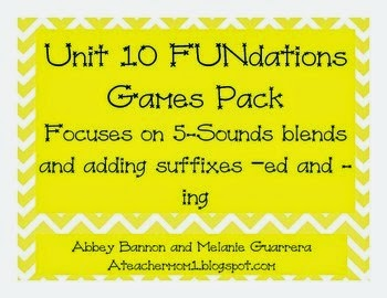 http://www.teacherspayteachers.com/Product/5-Sound-Blends-and-Suffixes-ed-and-ing-Phonics-Games-FUNdations-Grade-1-Unit-10-1172945