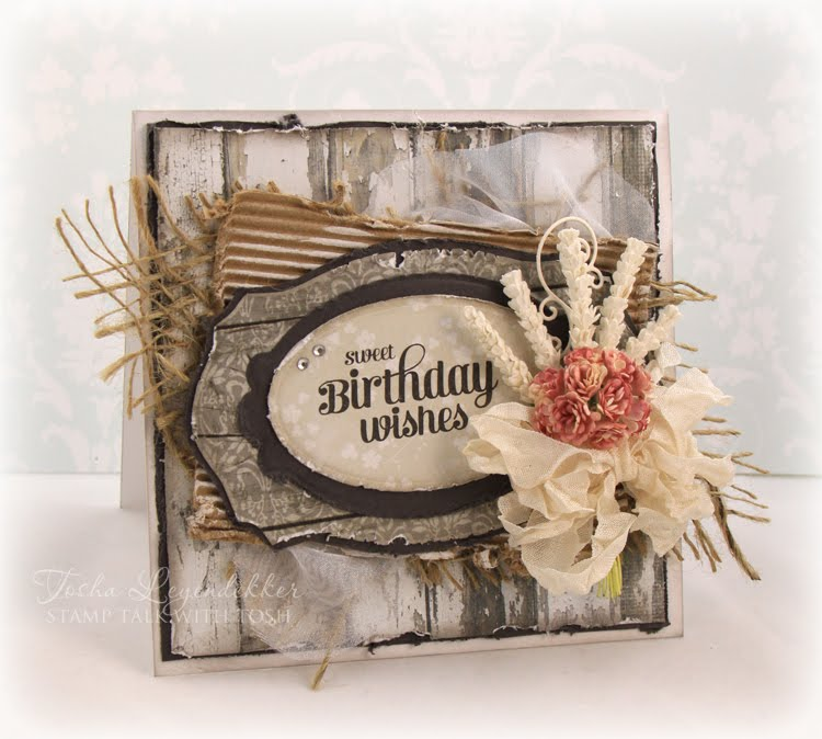 Stamp Talk With Tosh Rustic Birthday Wishes