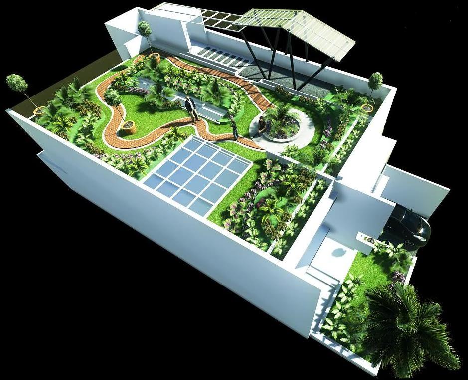 JASA DESAIN 3D MAX MURAH: Jasa Desain Gambar Taman di atas Atap Roof Garden Exterior & JASA DESAIN 3D MAX MURAH: Jasa Desain Gambar Taman di atas Atap ...