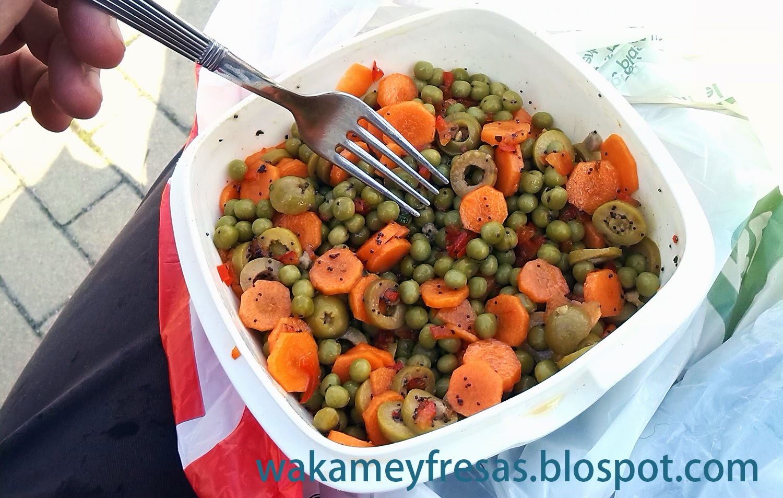guisantes con zanahorias