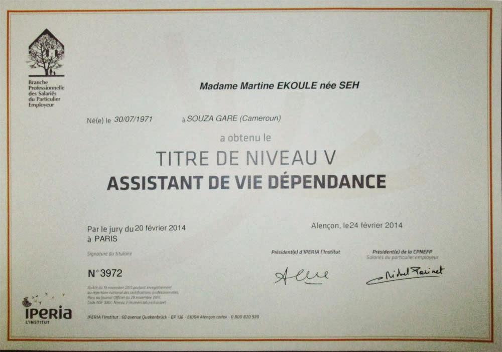 rebondir formation  remise des certificats  u00ab assistant de vie d u00e9pendance