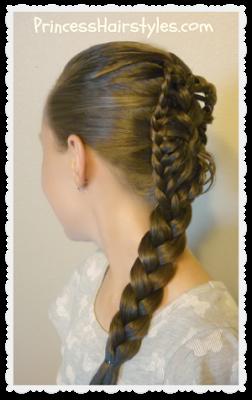 Stingray braid hairstyle tutorial