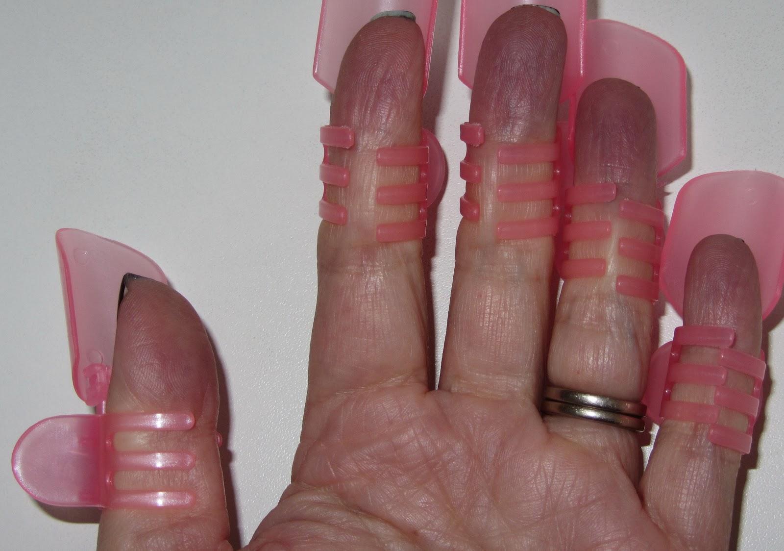 blå fingerspidser