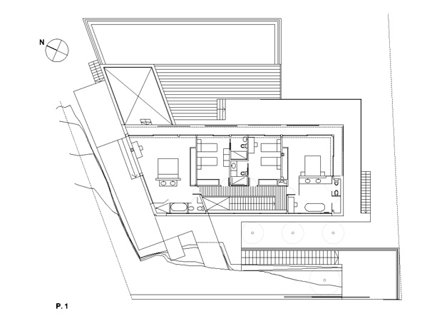 First floor plan of Casa 115 by Miquel Àngel Lacomba